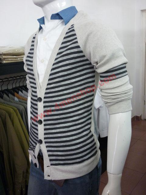 Áo khoác cardigan ac45 xám đen - 3