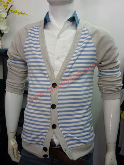 Áo khoác cardigan ac45 xám tím - 1