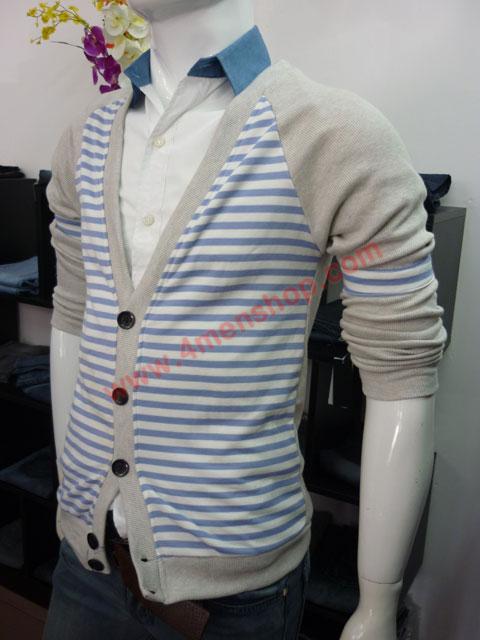 Áo khoác cardigan ac45 xám tím - 2