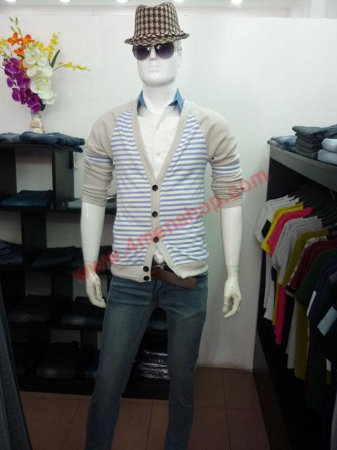 Áo khoác cardigan ac45 xám tím - 3