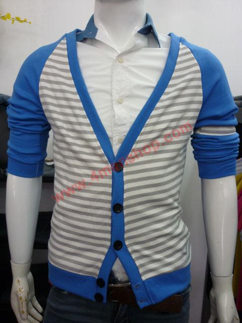 Áo khoác cardigan ac45 xanh da trời - 1