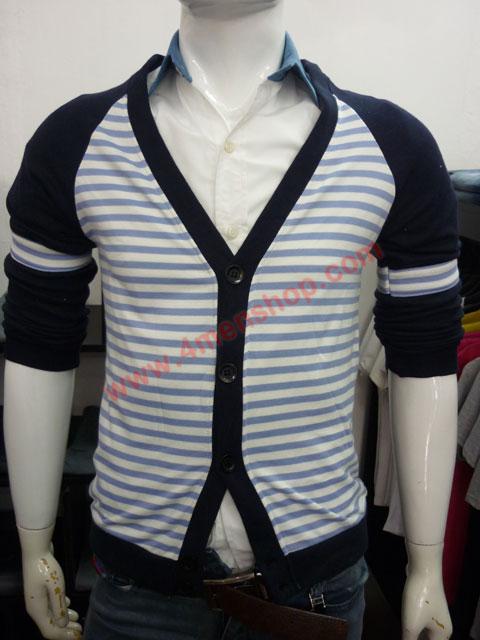 Áo khoác cardigan ac45 xanh đen - 1
