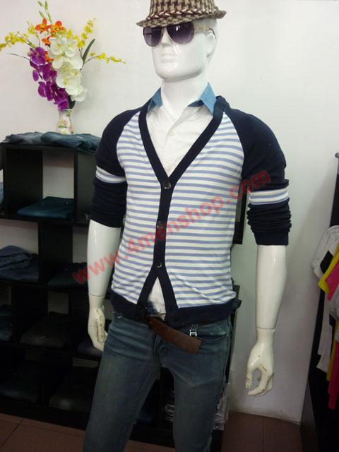 Áo khoác cardigan ac45 xanh đen - 3