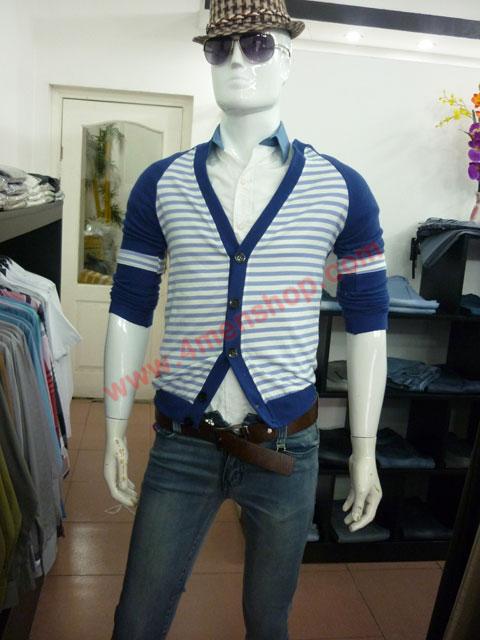 Áo khoác cardigan ac45 xanh dương - 3
