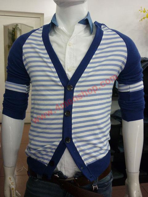 Áo khoác cardigan ac45 xanh dương - 1
