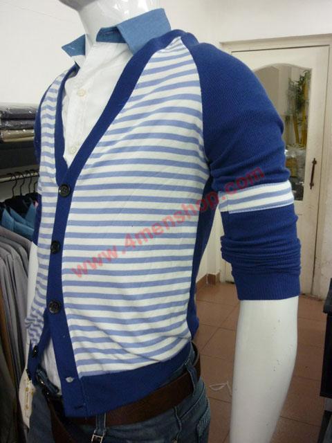 Áo khoác cardigan ac45 xanh dương - 2