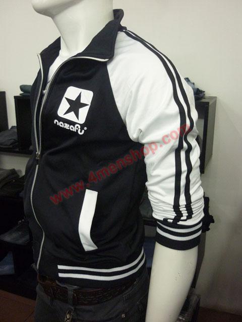 Áo khoác bóng chày nazafu k47 đen - 2