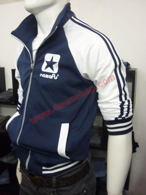 Áo khoác bóng chày nazafu k47 xanh đen - 2