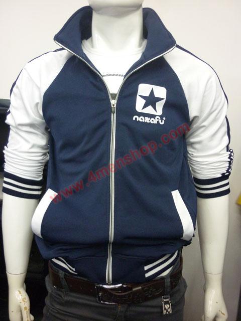 Áo khoác bóng chày nazafu k47 xanh đen - 1
