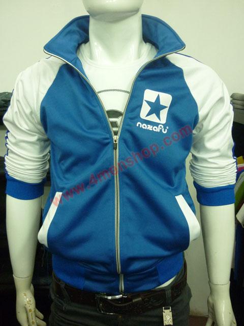 Áo khoác bóng chày nazafu k47 xanh dương - 1