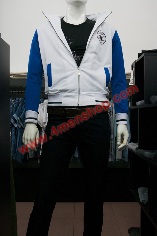 Áo khoác k 051 trắng xanh - 2