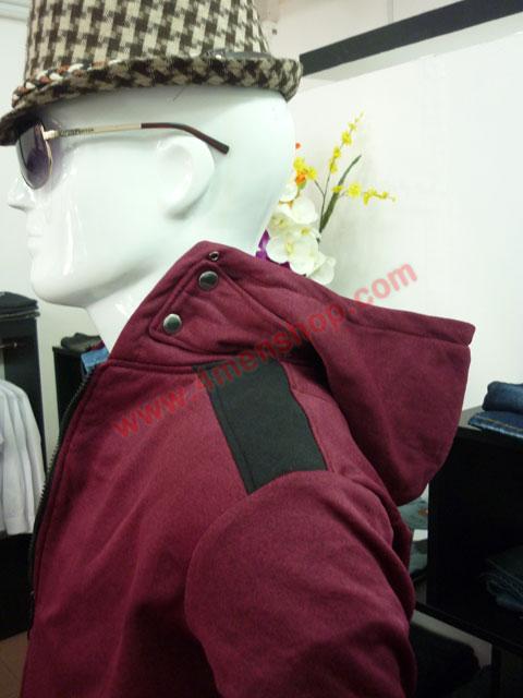 Áo khoác k44 đỏ đô - 3