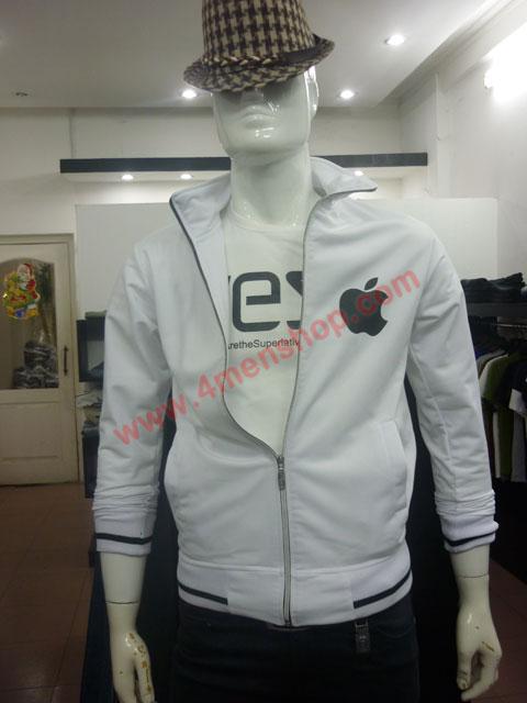 Áo khoác k49 trắng - 2