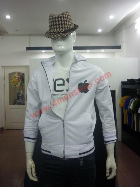 Áo khoác k49 trắng - 5
