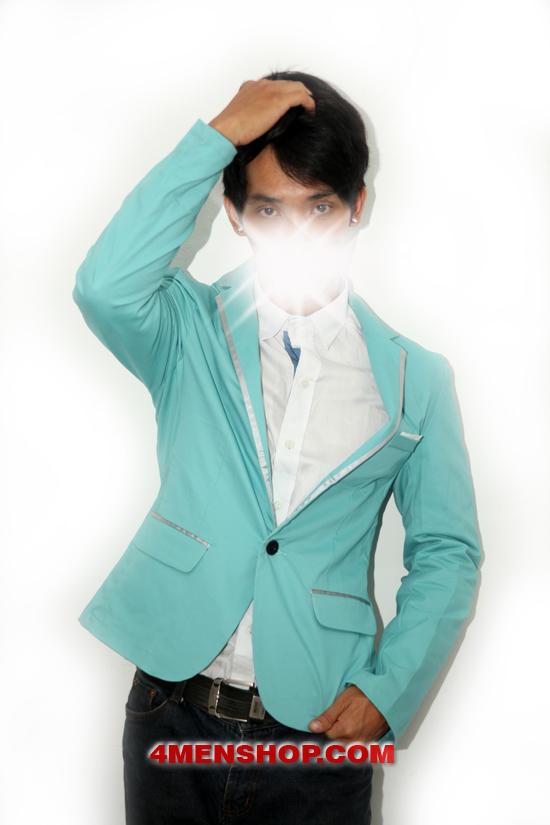 Áo vest v1002 xanh - 5