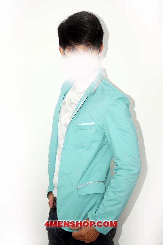 Áo vest v1002 xanh - 2
