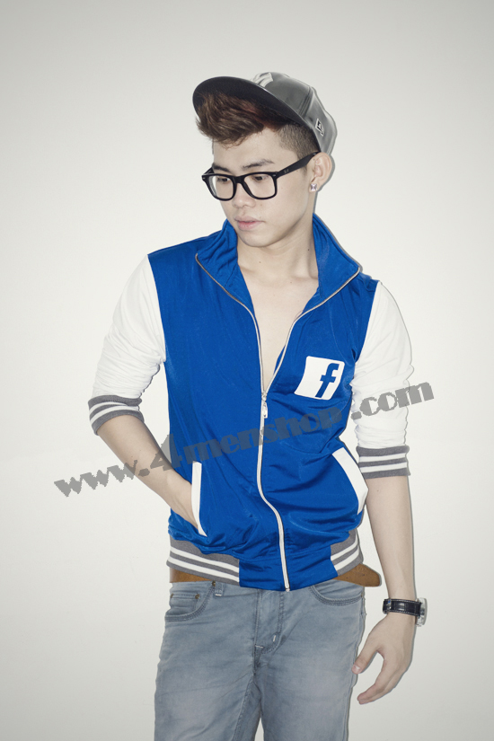 Áo khoác bóng chày facebook k42 xanh dương - 2