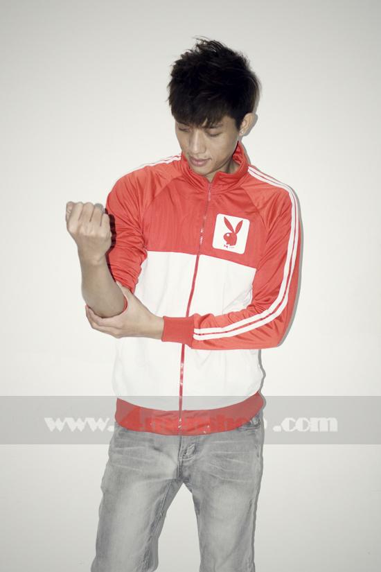 Áo khoác bóng chày playboy k056 trắng đỏ - 2