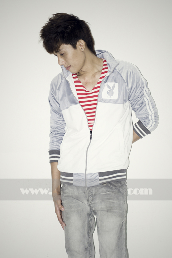 Áo khoác bóng chày playboy k056 trắng xám - 2