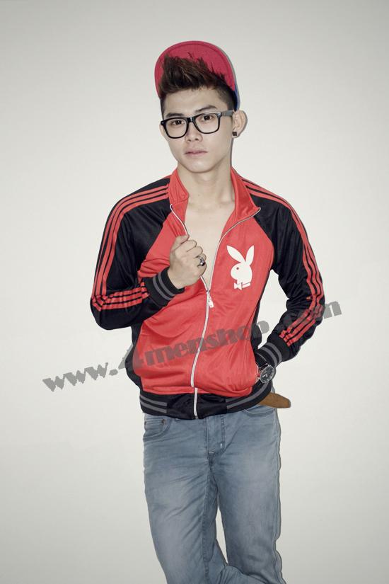 Áo khoác bóng chày playboy k41 đỏ - 3