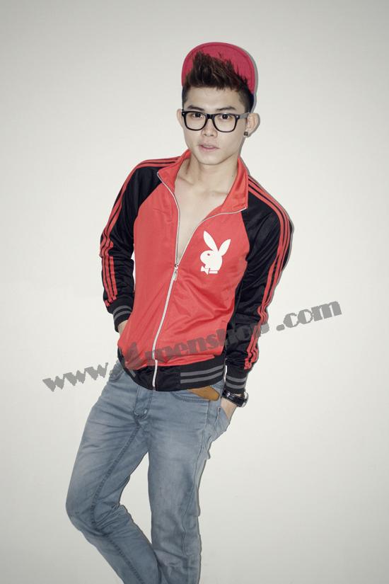 Áo khoác bóng chày playboy k41 đỏ - 1