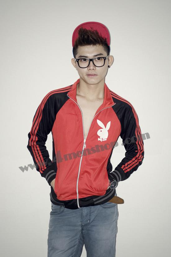 Áo khoác bóng chày playboy k41 đỏ - 2
