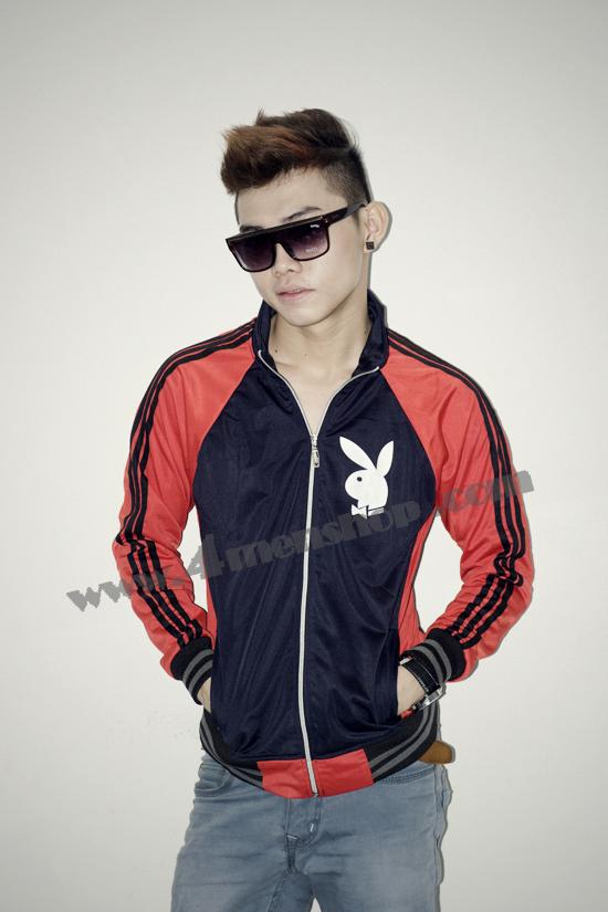 Áo khoác bóng chày playboy k41 đỏ đen - 2