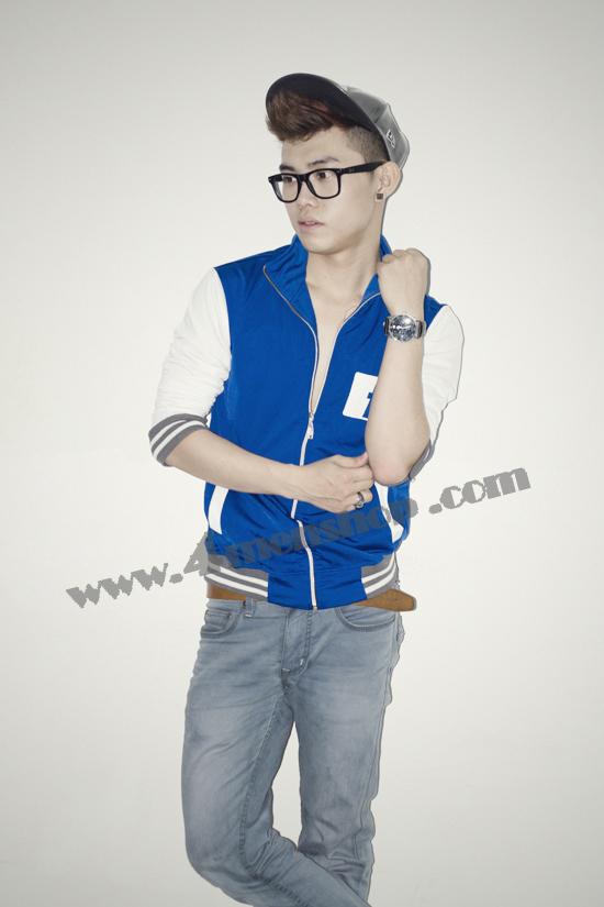 Áo khoác bóng chày playboy k41 xanh - 1