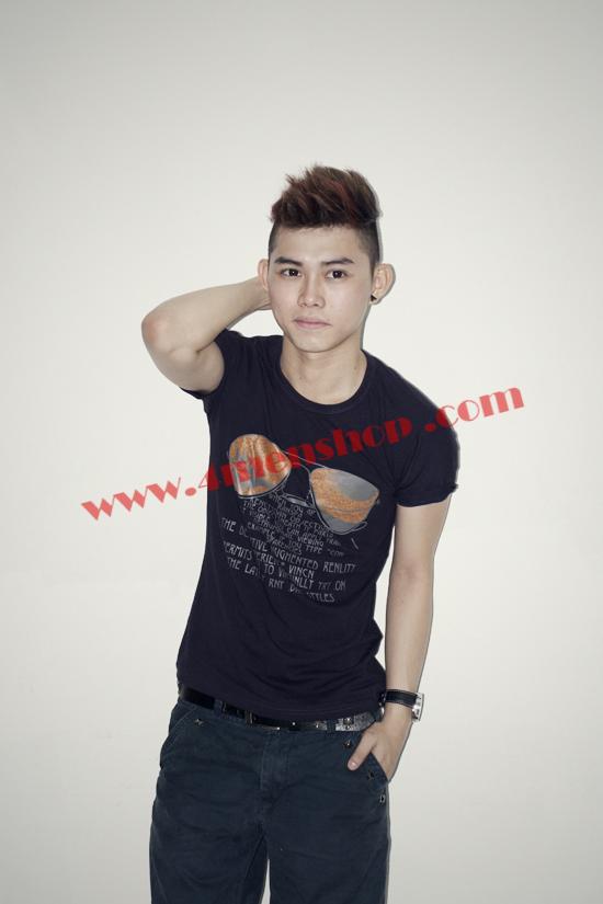 Áo thun nam teen at0118 đen - 2