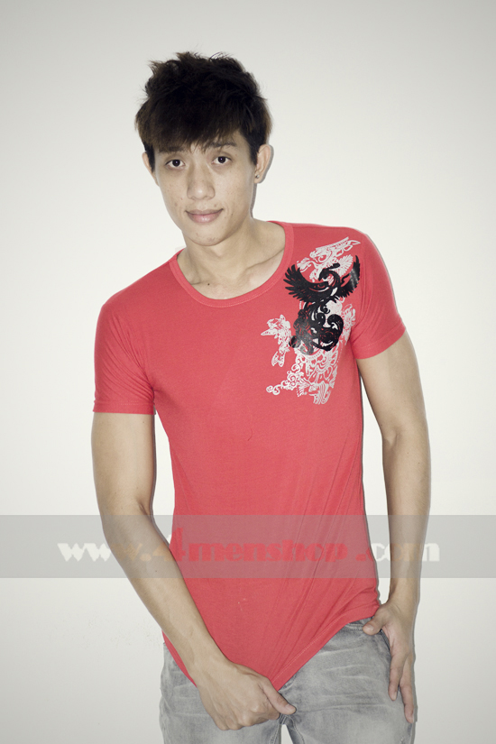 Áo thun teen gía rẻ at0123 đỏ - 1