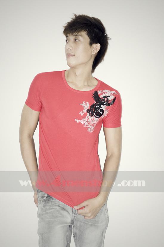 Áo thun teen gía rẻ at0123 đỏ - 2