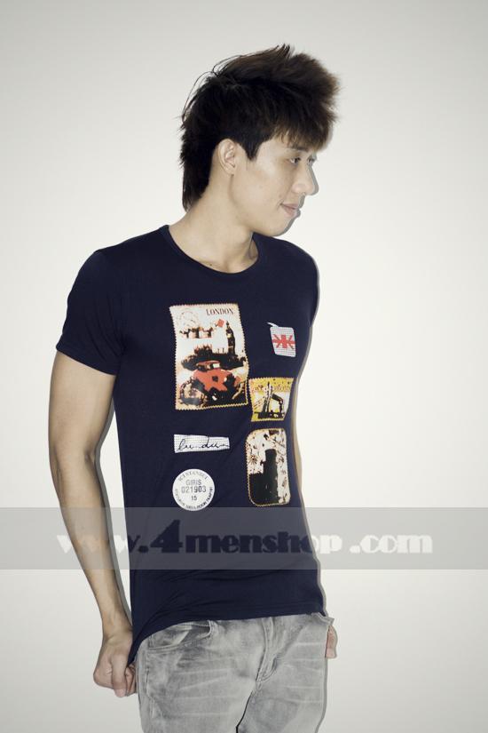 Áo thun teen gía rẻ at0124 đen - 1