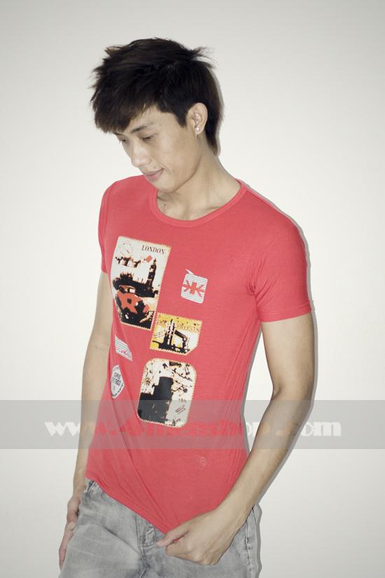 Áo thun teen gía rẻ at0124 đỏ - 1