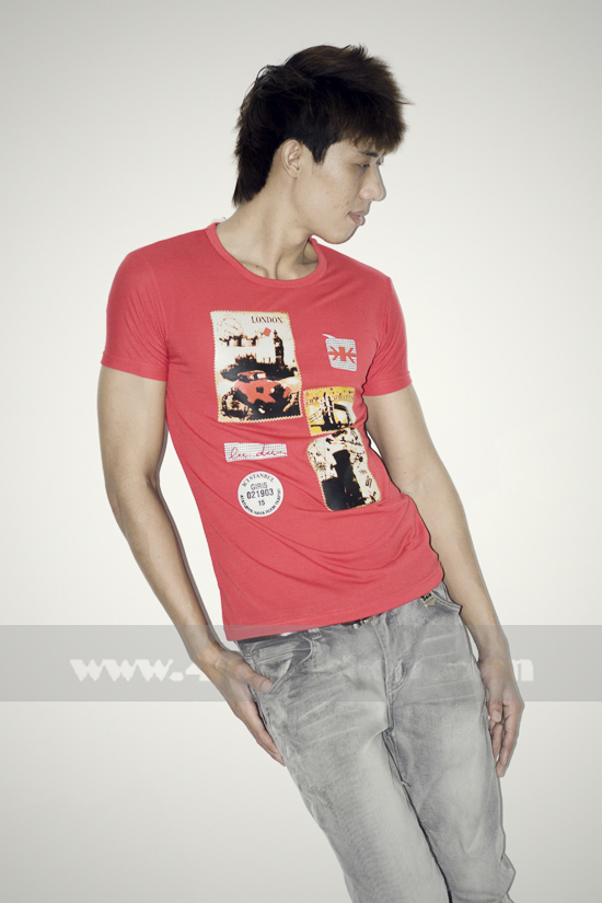 Áo thun teen gía rẻ at0124 đỏ - 3