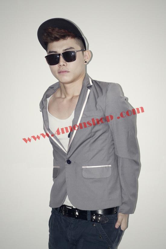 Áo vest 2 lớp v1001 xám đậm - 1