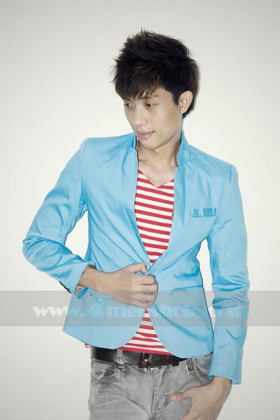 Áo vest blazer v1004 xanh-nhạt - 1