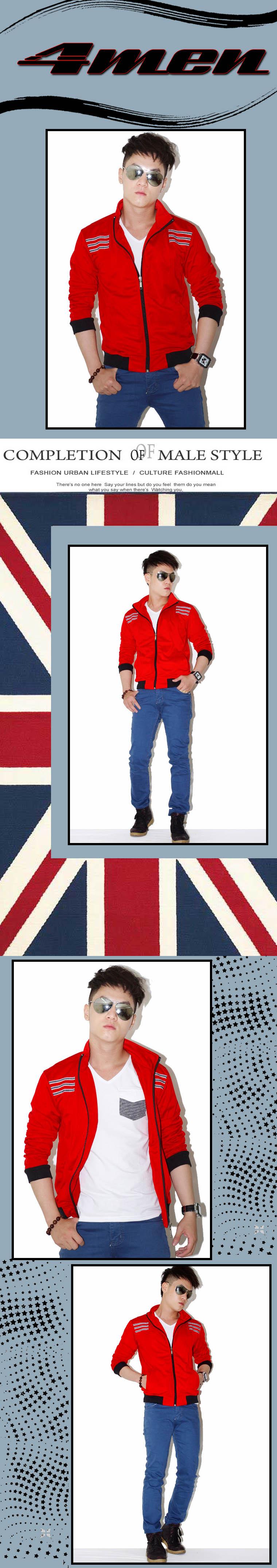 Áo khoác đỏ đô ak067 - 1