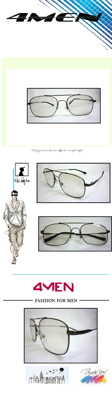 Mắt kính nam trắng mkf001 - 1