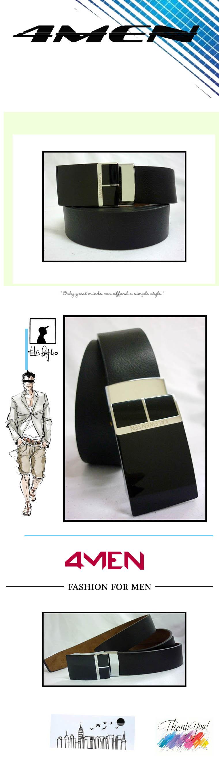 Thắt lưng da đen tlf010 - 1