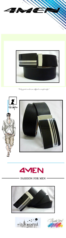 Thắt lưng da đen tlf012 - 1