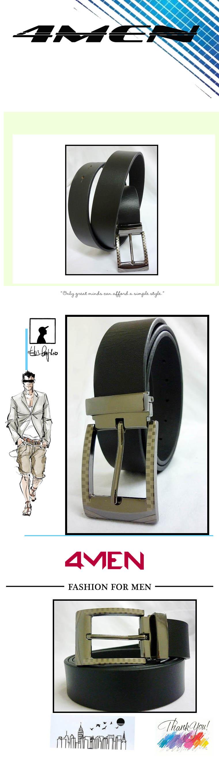 Thắt lưng da đen tlf014 - 1