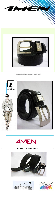 Thắt lưng nam đen armani tlf003 - 1