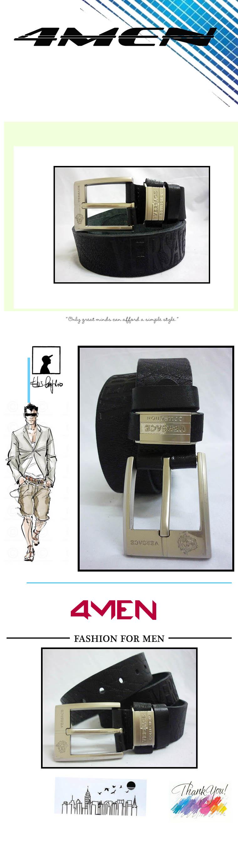 Thắt lưng nam versace đen tlf002 - 1