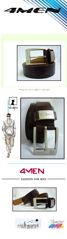 Thắt lưng nam versace nâu tlf002 - 1