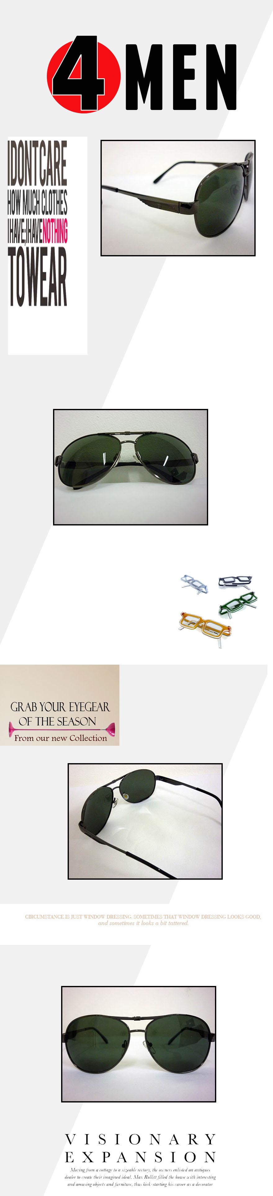 Mắt kính nam đen mkf008 - 1