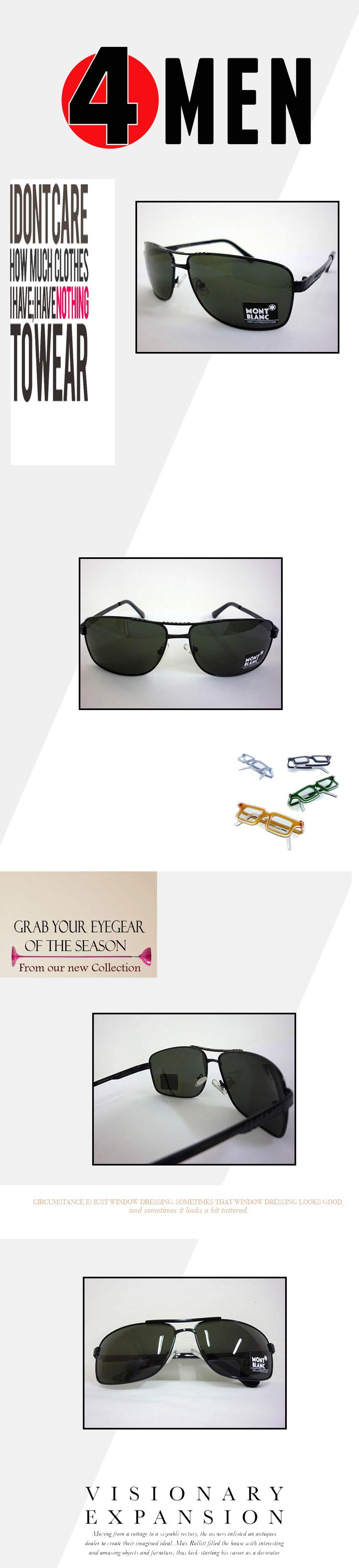 Mắt kính nam đen mont blanc mkf006 - 1