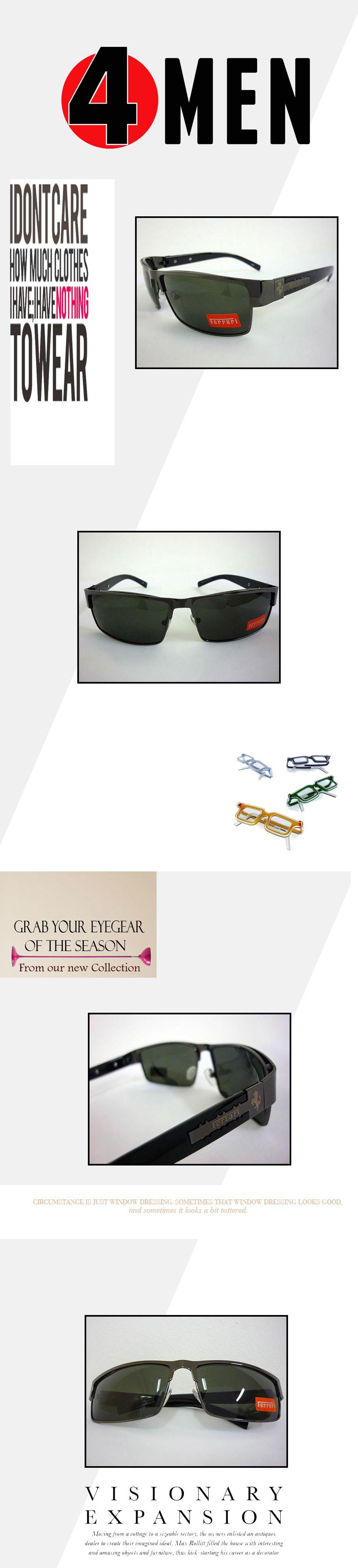 Mắt kính nam nâu ferrari mkf007 - 1