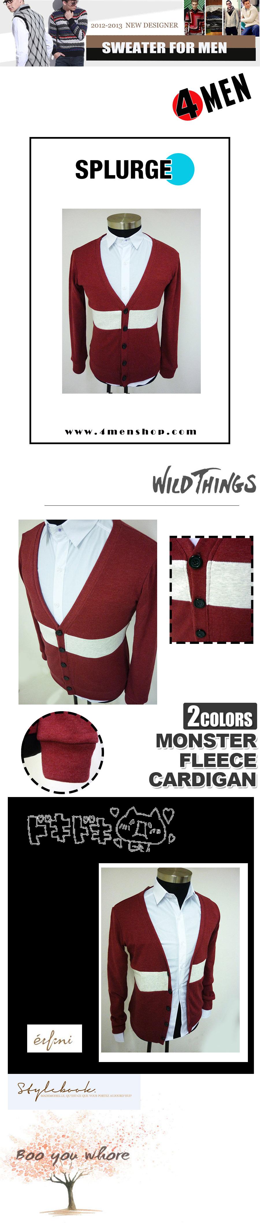 Áo khoác cardigan đỏ cam ac058 - 1