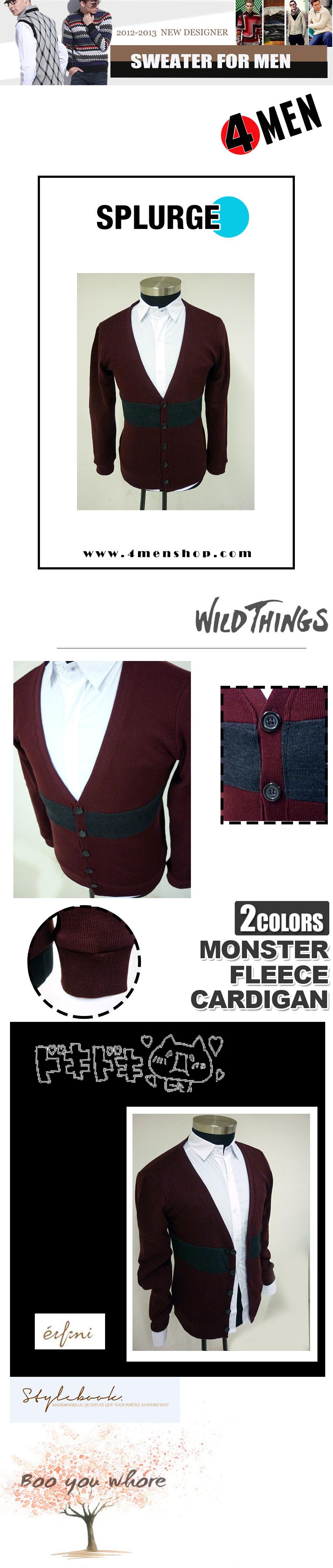 Áo khoác cardigan đỏ đô ac058 - 1