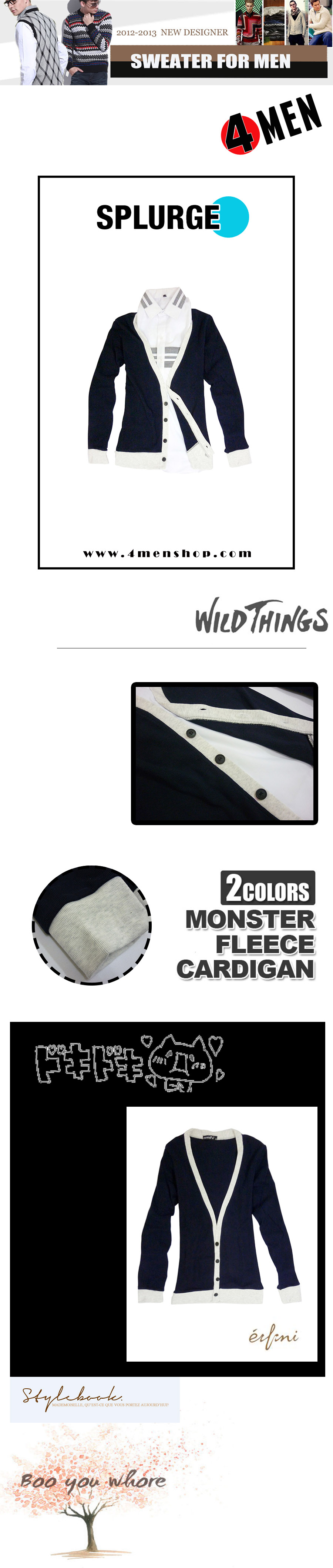 Áo khoác cardigan xanh đen ac057 - 1